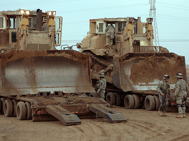Military bulldozers