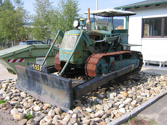 Old steam shovel bulldozer
